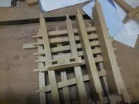 壁面収納 枘加工。 - 手作り家具工房の記録