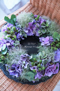 あじさいの似合う季節♩ - Le vase*  diary 横浜元町の花教室