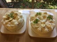 バナナショートケーキレッスン - 調布の小さな手作りお菓子・パン教室 アトリエタルトタタン