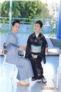 雅茶子さまの写真展『第四回フォト写遊展』にて♪(2017.6.14) - 着物、ときどきチロ美&チャ美。。。お誂えもリサイクルも♪