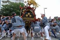 振って、倒して、降り倒して、持ち上げる荒っぽい神輿(荒川区、素戔嗚神社の天王祭) - 旅プラスの日記