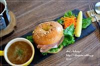 オレンジ酵母のベーグルサンドランチ - *sheipann cafe*