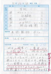 11月16日 - なおちゃんの今日はどんな日?