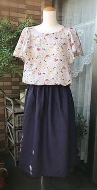 リネン100ぱーのギャザースカートだど~ - 新生・gogoワテは行く!