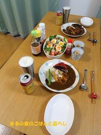 チキンと焼き野菜カレー  - まるの家のごはんと暮らし
