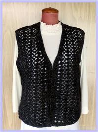 ☆前開きベスト - ひまわり編み物