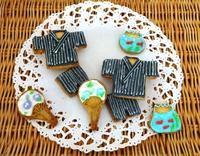 父の日に・・甚平のアイシングクッキー☆ - パンのちケーキ時々わんこ
