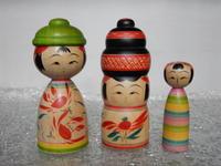 平賀輝幸工人作のこけし'17 6月 - こけしと手織りの小部屋