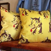 Delinquent Bros『 HOLIDAY WOLF CUSHION 』 - ★ GOODY GOODY ★  -  ROCK 'N ROLL SHOP