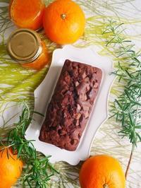 チョコとオレンジのパウンドケーキ♪ - This is delicious !!