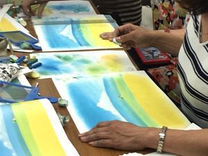25期、葉祥明の世界を描こう講座 - パステルシャインアート銀座本部