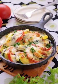 夏野菜のチーズ焼き カルピスマヨネーズソース - cafeごはん。ときどきおやつ
