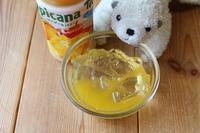 【本日のオヤツ】 シロップゼリー+マンゴージュースで、夏を乗り切るゼリーなニョ。 - ツルカメ DAYS