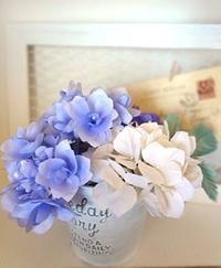 あじさいのアレンジメント - handmade flower maya