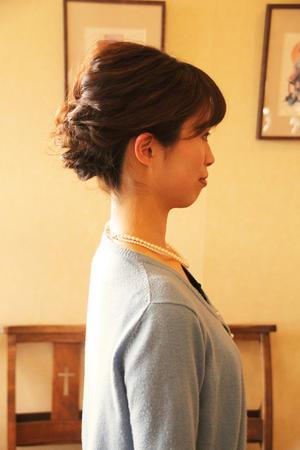 結婚式 髪型 ヘアアレンジ ルーズ 編み込み さくら市 美容室エスポワール - 美容室エスポワール