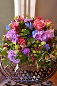 Barの開店祝いに♪フラワーアレンジメント - 花色~あなたの好きなお花屋さんになりたい~