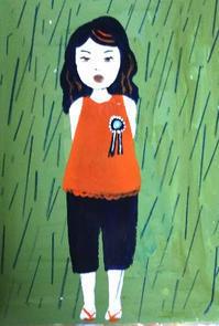 雨の音 - たなかきょおこ-旅する絵描きの絵日記/Kyoko Tanaka Illustrated Diary