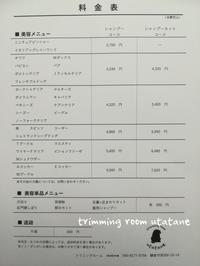 料金について - 鎌倉の小さなトリミングルーム -utatane-