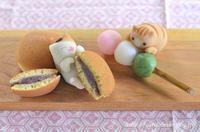 和菓子の日の猫練りきり どら焼きとお団子で幸せ♪  Homemade Wagashi on The Day of Japanese Confectionery - お茶の時間にしましょうか-キャロ&ローラのちいさなまいにち- Caroline & Laura's tea break