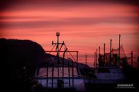 ☆ 上架の船と夕焼け ☆ - Trimming
