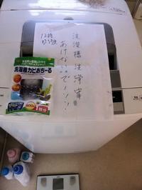 洗濯槽洗浄中 - 飛行機とパグが好きなお母さんの日記