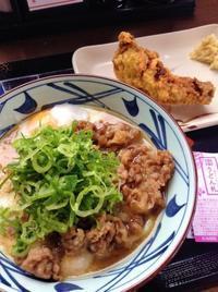 牛とろ玉うどん(温)とかしわ天(丸亀製麺 弘前店) - 引継ぎメモ