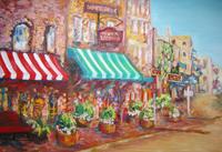最初の町 - 絵を描きながら