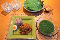 ドライカレー/冷製モロヘイヤスープ/らっきょう/サラダ - まほろば日記