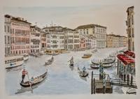 イタリアの旅:ヴェネツィア(5) - オヤジの水彩画集