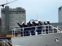 """6月18日(日)、神戸港中突堤から練習船""""進洋丸""""が出港しました - フォトカフェ情報"""