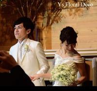 かすみ草とバラのクラッチブーケ アニヴェルセルみなとみらい横浜さん - Ys Floral Deco Blog