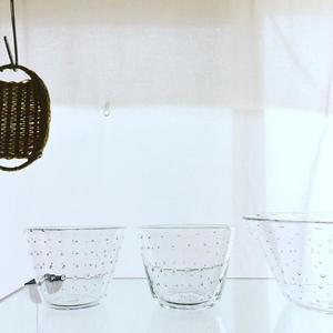 新居百合子さんのガラスの器 - ∞  みつばち notebook   ∞