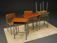 学校の机と椅子 完成品 - DNF