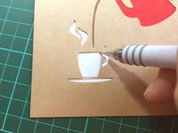 切り抜き封筒とマスキングテープ - シロリス