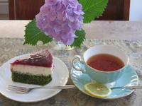 ジューンベリージャムと抹茶のコラボケーキ - 光さんの日常