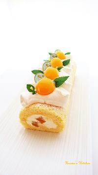 パッションマンゴーのロールケーキ。 - Heaven's Kitchen