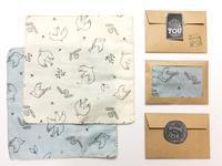 タンポポと小鳥柄のハンカチ*ダブルガーゼ - ハンドメイド&セレクトショップ loosey-goosey ブログ