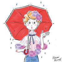 紫陽花ドレス - 溝呂木一美(飯塚一美)の仕事と趣味とドーナツ