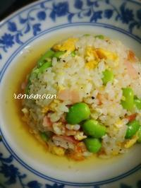 'Edamame'fried rice with  soup - 40's table