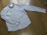 ブルーのストライプのシャツ メンズサイズから私用に - ミシン 縫い縫い日記