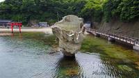 江差 瓶子岩の空撮 - カワセミ王国
