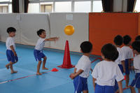 投げる(こすもす) - 慶応幼稚園ブログ【未来の子どもたちへ ~Dream Can Do!Reality Can Do!!~】