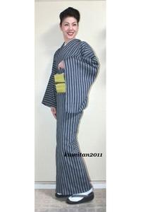 今日の着物コーディネート♪(2017.6.20)~近江ちぢみ着物&紗博多帯編~ - 着物、ときどきチロ美&チャ美。。。お誂えもリサイクルも♪