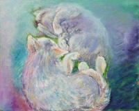 スロベニア猫歩き - 絵を描きながら