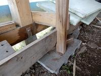 車庫の薪棚の凍結対策 - あいやばばライフ