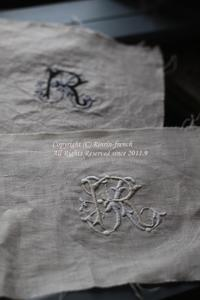 モノグラム刺繍 - フレンチシックな家作り。Le petit chateau
