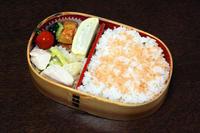鶏肉とアスパラのオイマヨ炒め - 庶民のショボい弁当