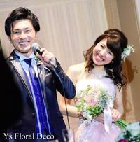 スモーキーピンクのドレスにあわせるナチュラルクラッチブーケ&ヘッドドレス - Ys Floral Deco Blog