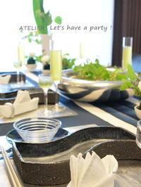 「7月のテーブルコーディネート&おもてなし料理レッスン」のご案内♪ - ATELIER Let's have a party ! (アトリエレッツハブアパーティー)         テーブルコーディネート&おもてなし料理教室