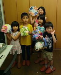 6月18日1DAY単発プリザーブドレッスン 午後の部、親子で花のレッスン 銀も金も - 一会 ウエディングの花